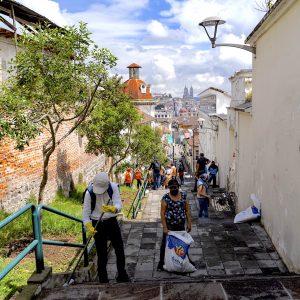 El Panecillo Staircase - Quito, Ecuador