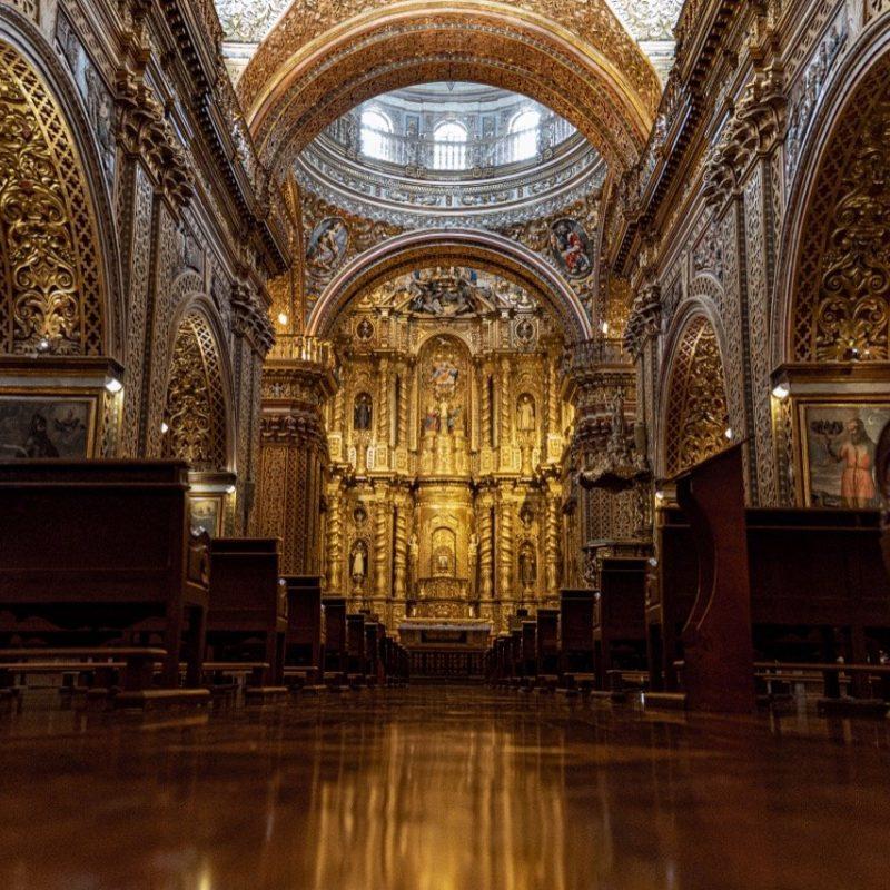 Compañía. de Jesus Church, Quito. Walk for Tips Ecuador