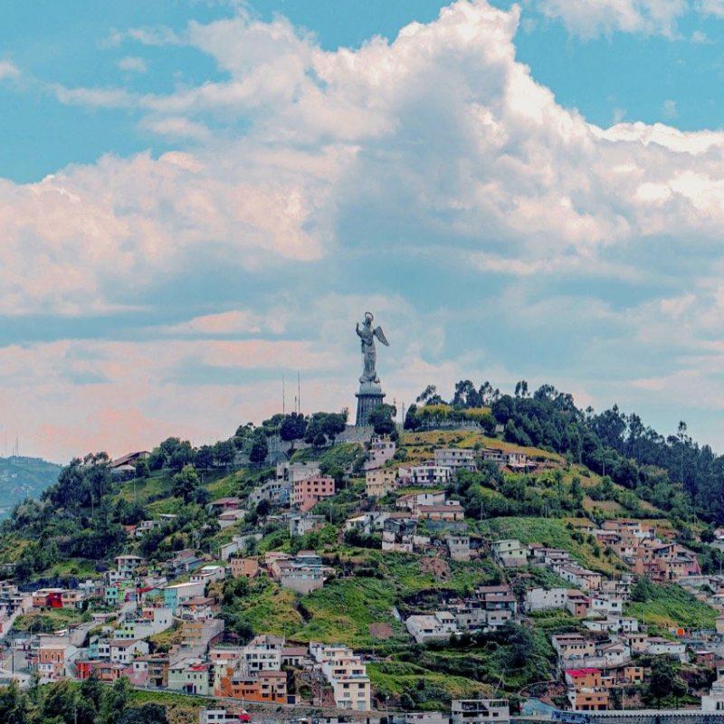 El Panecillo Hill or Sugar Loaf, Quito. Walk for Tips Ecuador