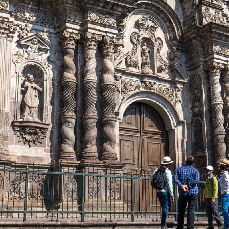 Facade Compañía. de Jesus Church, Quito. Walk for Tips Ecuador