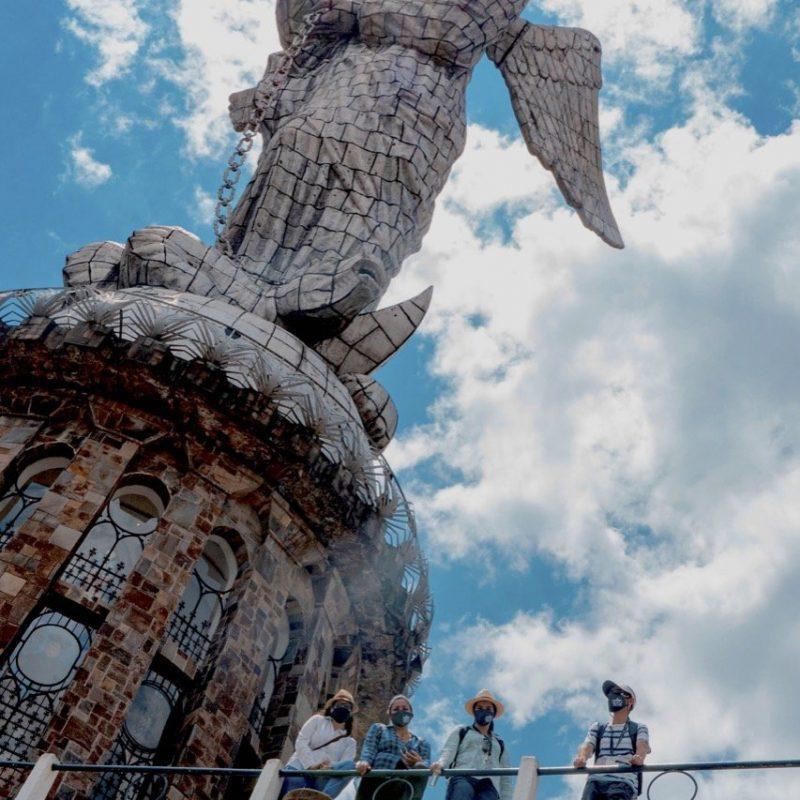 Look Out Virgen Sculpture of El Panecillo Hill, Quito. Walk For Tips Ecuador.
