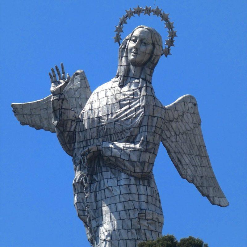 Virgen Sculpture of El Panecillo Hill, Quito. Walk For Tips Ecuador.