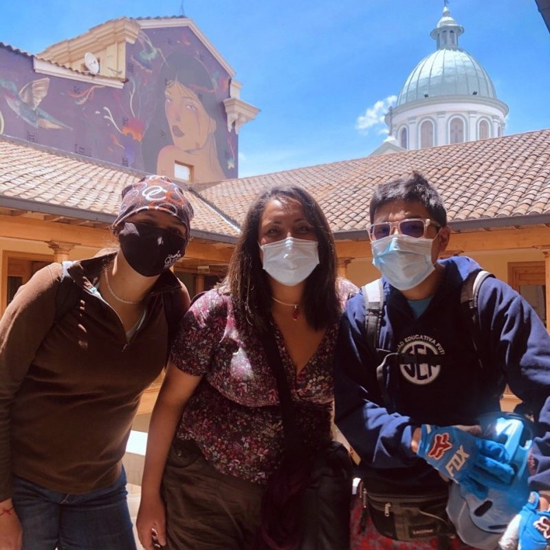 Team and Guides. Walk For Tips. Quito, Ecuador