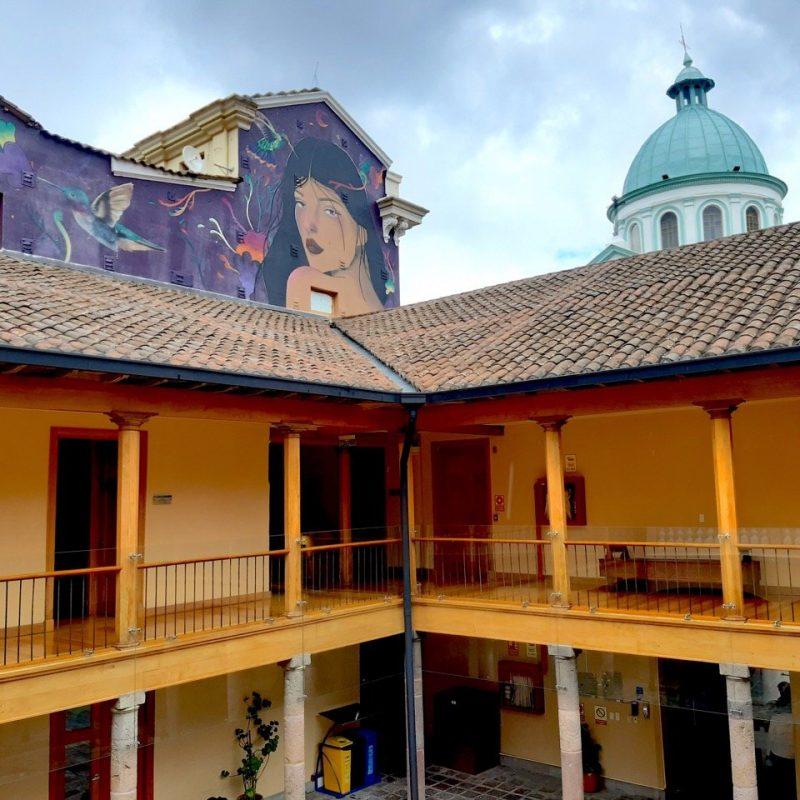 Quito Colonial Town. Walk For Tips Ecuador.