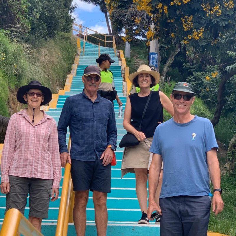 847 Staircase to El Panecillo Hill. Walk For Tips Ecuador.